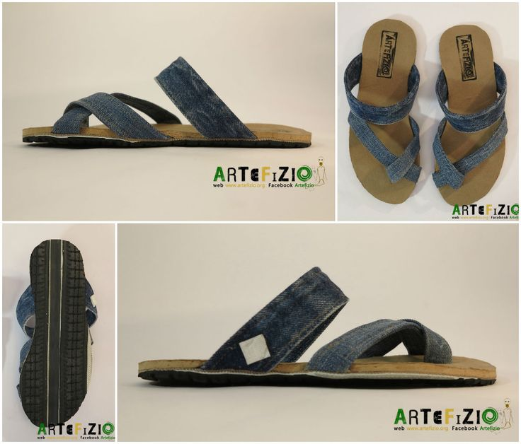 Infra - Upcycled Sandal Serena #Cork, #Jeans, #Sandals, #Shoes, #Tire, #Tube, #Upcycled