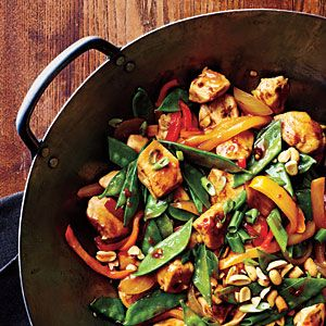 Szechuan Chicken Stir-Fry | CookingLight.com ** modify slightly for low carb...obviously no white rice, instead you could rice some cauliflower if you want