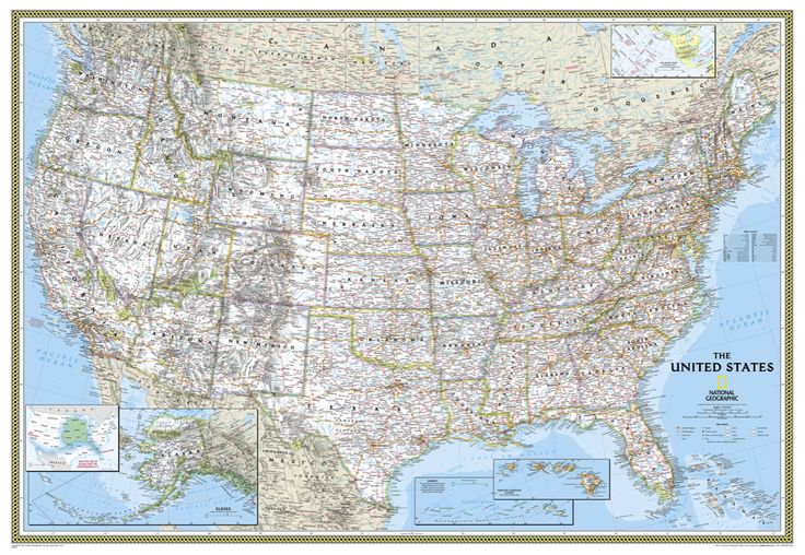 Political US Map | €24,00 | www.ngshop.nl
