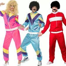 Adult 80s Tracksuit Shell Suit Scouser Mens Ladies Fancy Dress Sport Costume Wig