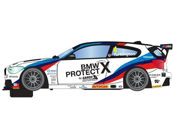 The Scalextric BTCC BMW 125 Series 1 Colin Turkinton is a slot car from the Scalextric Road and Rally car range.