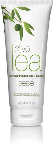 La crema hidratante cara y cuerpo bebé de Olivolea contiene ácidos grasos monoinsaturados y vitamina E que la hidratan y la protegen sin alergias, sensibilidades o irritaciones