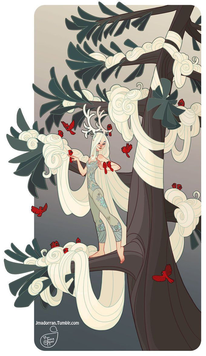 Winter Tree Lady. A print of this picture is available on my online print shop. ______________________________________________ Art by Jessica Madorran TUMBLR | BLOG&nbsp...