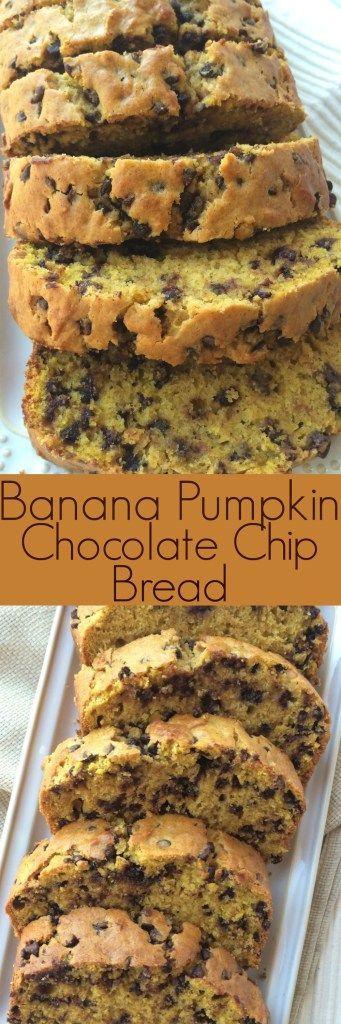 Banana Pumpkin Chocolate Chip Bread