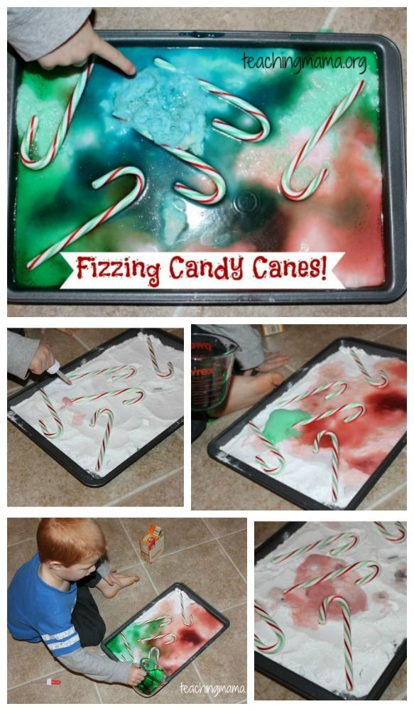 Fizzing Candy Canes - a super fun science experiment to do around Christmas!