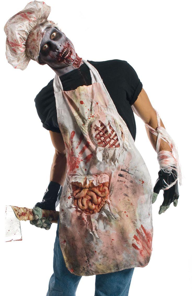 tablier de zombie boucher pour halloween deguisement. Black Bedroom Furniture Sets. Home Design Ideas