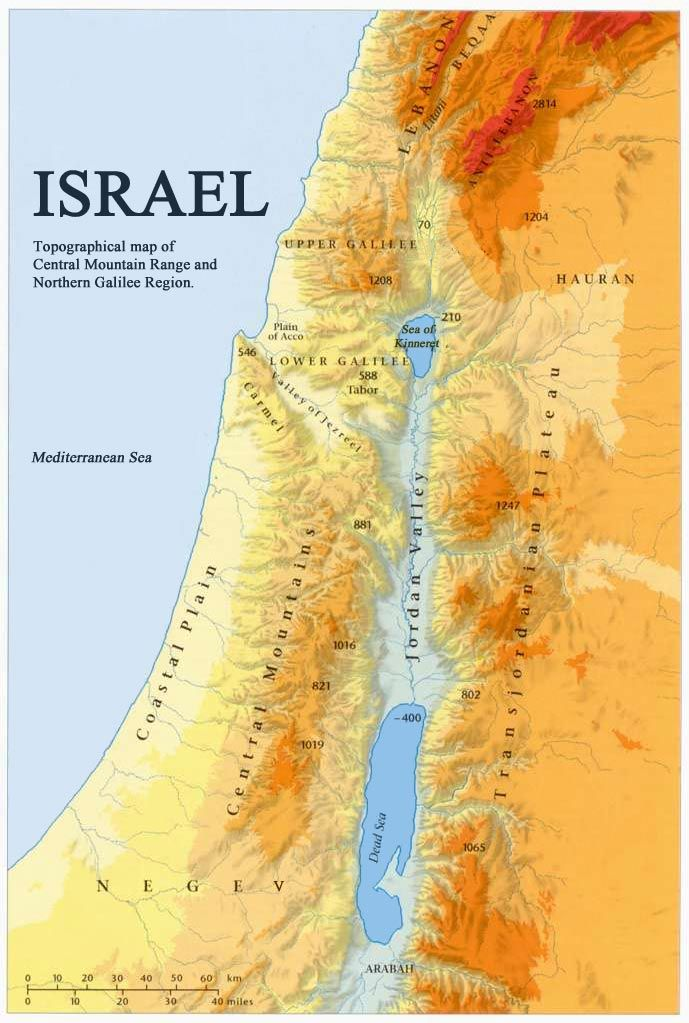 Homework help israel topograpical map