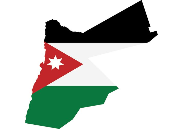 Wallpaper map of Jordan with flag graphics
