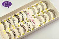 Envío gratis !! 10 pares 100 % hecho a mano de las pestañas falsas inferiores Pestañas Maquillaje pestañas inferiores para Ojos + pegamento libre 5 estilos