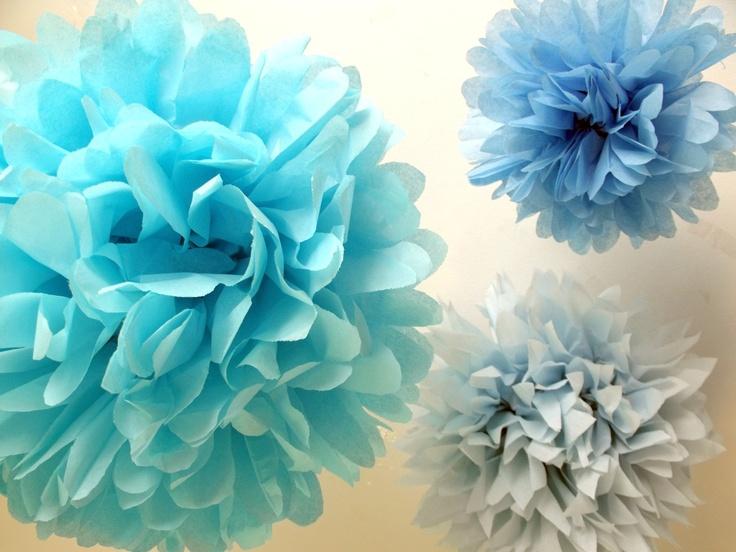 Black Friday sale Princess party decorations ... DIY Paper pompoms  ... 9 Poms. $27.20, via Etsy.