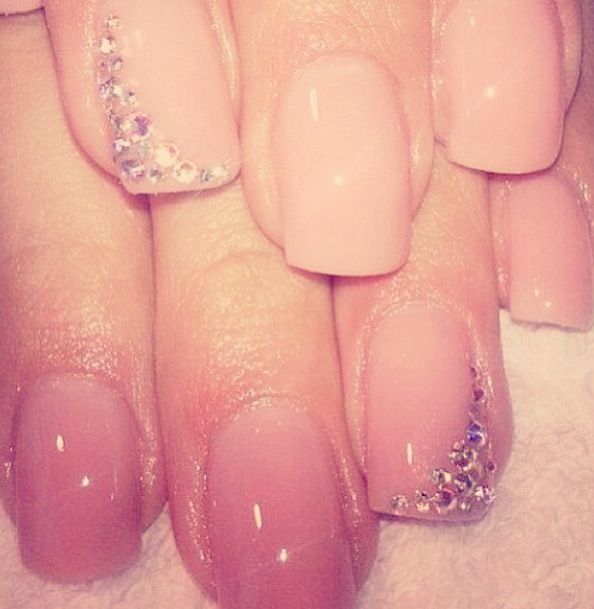 How I want my nails for prom. Nothing too extreme, but still cute. Maybe without the jewels though.