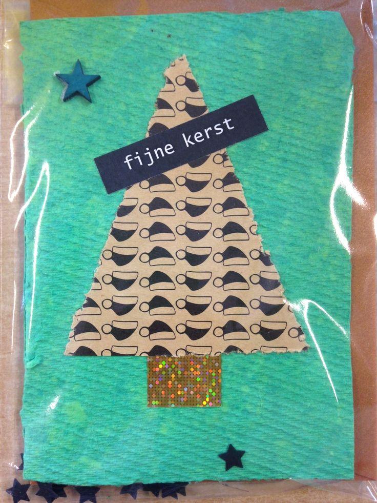 #papierscheppen #kerst #kaart #leerlingen