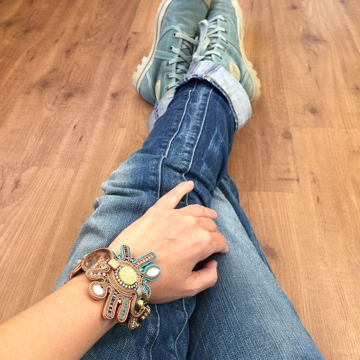 Casual look with Bogart bracelet. #doricsengeri #bracelet #casual #handmade #Statement #accessories #jewelry