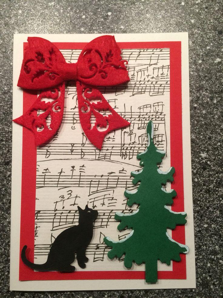 Julekort / Christmas card Juletræ / Christmas tree Kat / cat