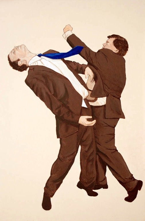 "Saatchi Online Artist: Eric Drass; Acrylic, Painting ""Corporate Fight Club: Dead Cat Bounce"""