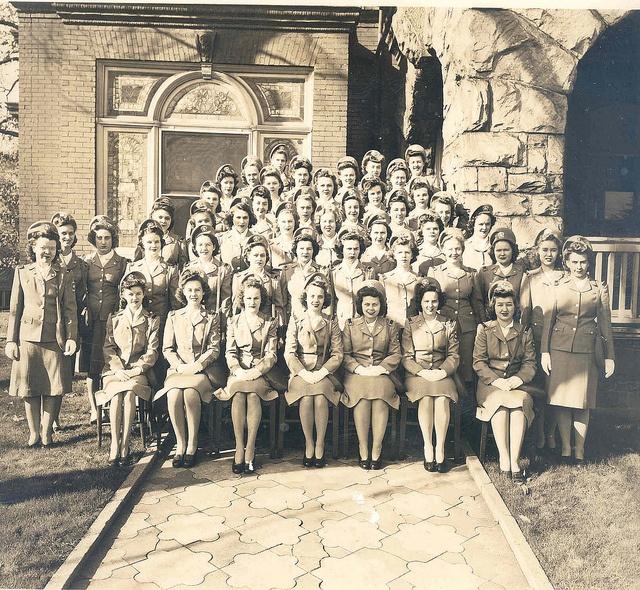Many student nurses at Piedmont Hospital in Atlanta joined the Nurse Cadet Program during World War II ~