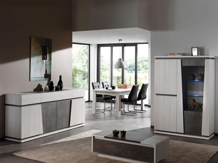 MELONNY - Moderne eetkamercollectie die uw interieur een eigen karakter zal geven dankzij de combinatie van twee kleuren. Bovendien kan u ervoor kiezen op in de vitrine verlichting te verwerken | Meubelen Crack