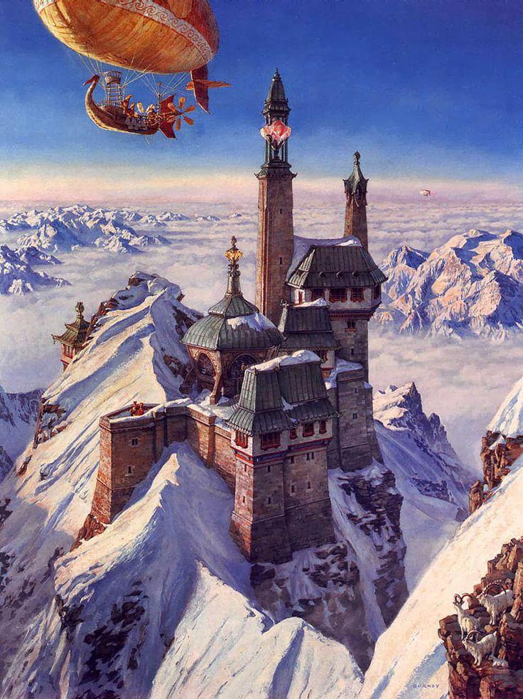 illustration, concept art, fantasy, more from this author>> http://3rd-art.blogspot.com.es/2014/02/james-gurney-1958.html