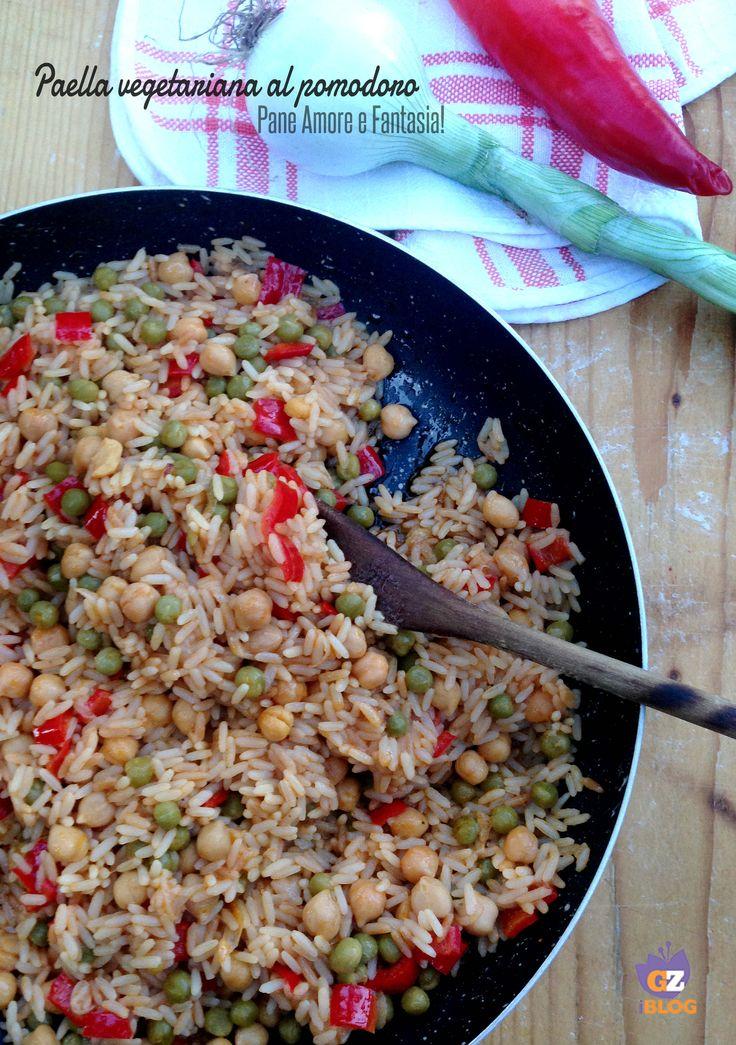 Paella vegetariana al pomodoro | Pane Amore e Fantasia!