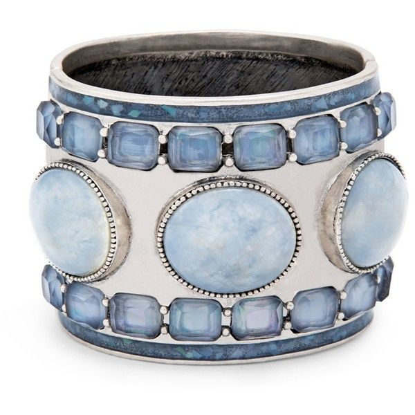 Chico's Wren Cuff found on Polyvore featuring jewelry, bracelets, blue, blue jewelry, imitation jewelry, cuff jewelry, fake jewelry and cuff bangle