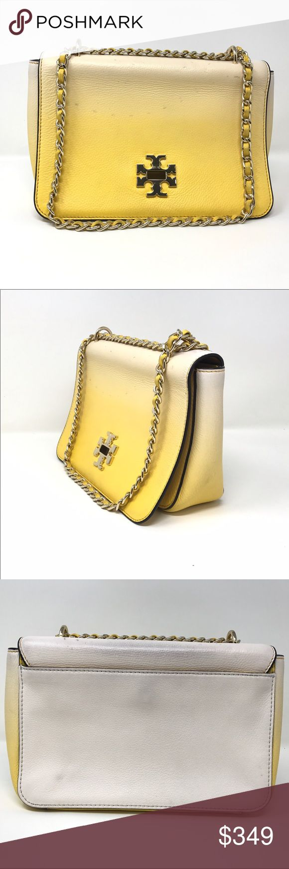 Tory Burch leather women's crossbody bag Pre owned bag in very good condition. Some some stains as u can see in pictures. Size  ( H*L*W= 6*9*3) resoanable offers welcome. Tory Burch Bags Crossbody Bags