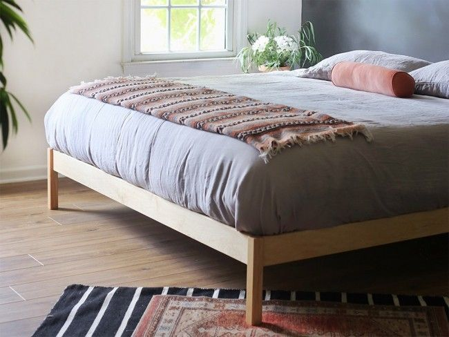 B Flat Chemical Free Platform Bed Free Shipping Package Solid Wood Bed Frame Bed Frame And Headboard Wood Bed Frame