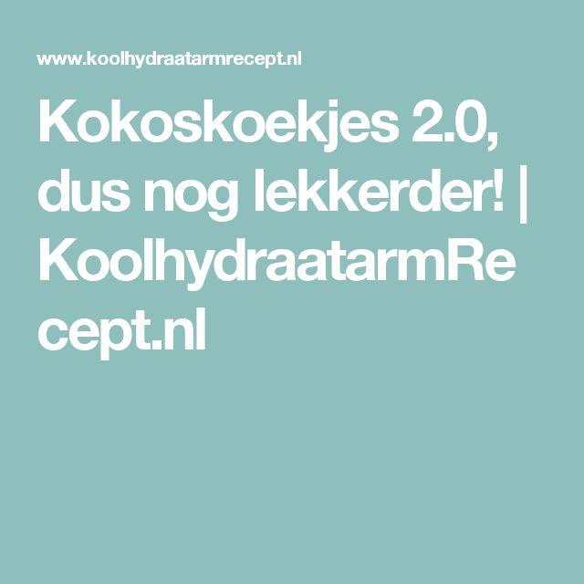 Kokoskoekjes 2.0, dus nog lekkerder!   KoolhydraatarmRecept.nl