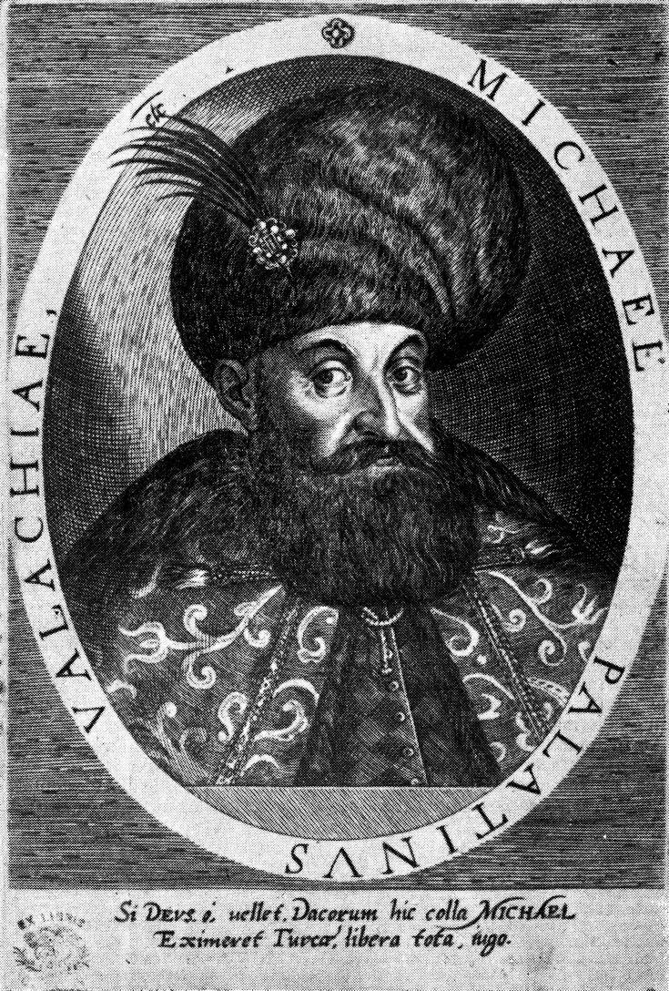 """Mihai Viteazul by Dominicus Custos - """"Atrium heroicum Caesarum, regum, [...] imaginibus [...] illustr[atum]"""" 1601-1602"""