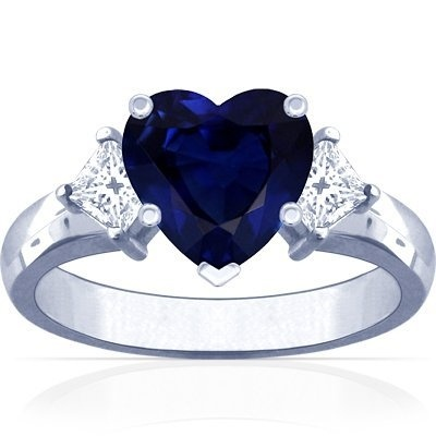Maybe-someday-future engagement ring? I love the really deep blue of this sapphire.