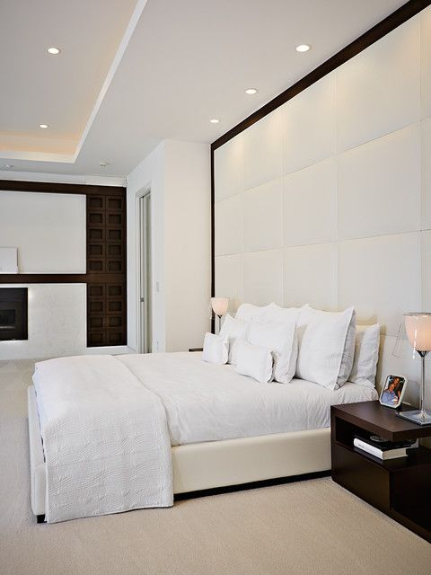 Bedroom Headboard Wall Design : Images about padded wall panels on