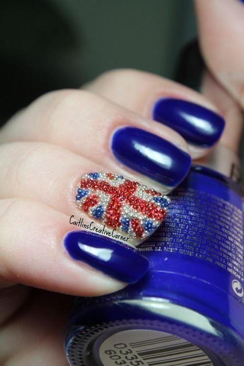 Great britain flag Nail art