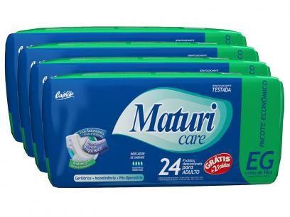Kit de Fraldas Capricho Maturi Care Confort EG - 4 Pacotes com 24 Unidades com as melhores condições você encontra no Magazine Sualojaverde. Confira!
