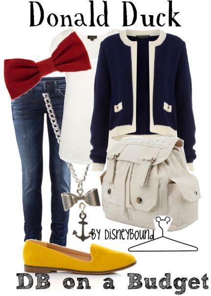 Disney Bound: Disney Inspiration Outfits, Donald O'Connor, Disney Outfits, Disney Bound Outfits, Disney World, Donald Ducks, Disneybound, Disney Fashion