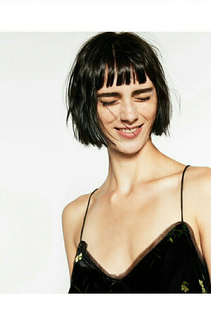 #Shortbob #bangs #fringe #loveit #shorthair #hairstyles #haircut Pic from Zara official website