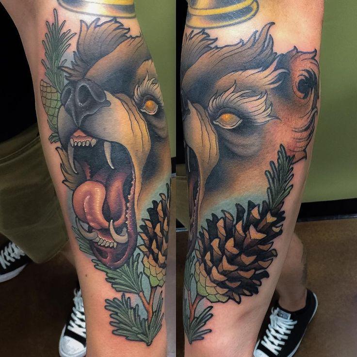 Grizzly Bear Tattoo by Billy Weigler at Perception Fine Body Art in Dallas TX