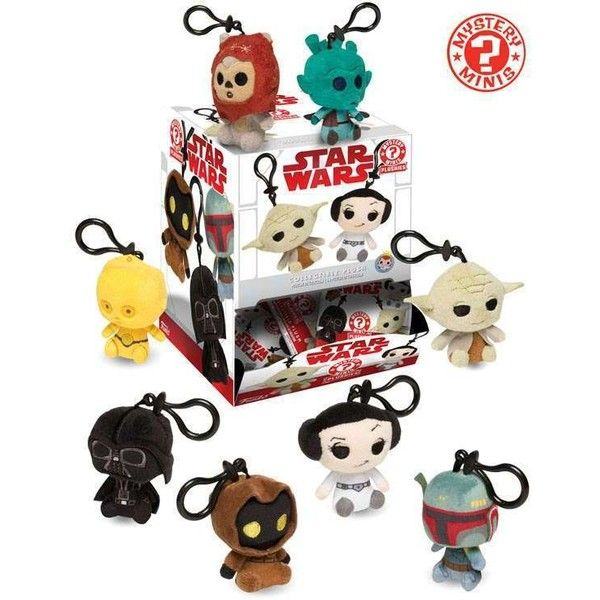 Funko Mystery Minis Star Wars Classic Keychain Plush Mystery Box [12... (€59) ❤ liked on Polyvore featuring accessories, funko, mini key chain and fob key chain