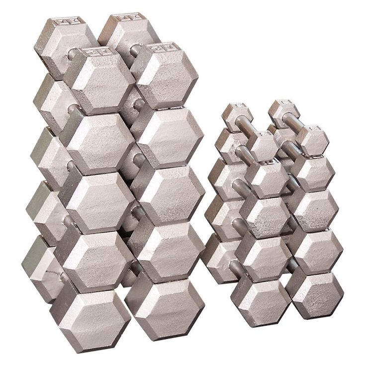 Body Solid Grey Hex Dumbbell Set - SDS