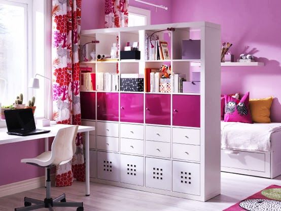 room partitions kids | Interior Walls And Beautiful Curtains And White Kids Room Dividers ...
