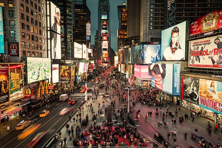 В Нью-Йорке открыта обновленная Таймс-сквер
