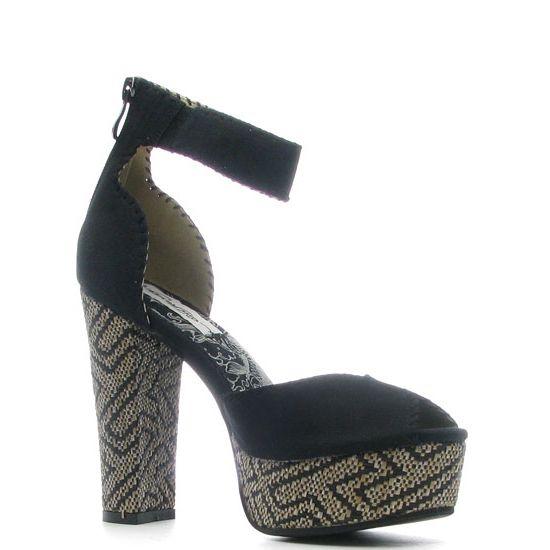 Ed Hardy Cindy Heel Shoe – Black