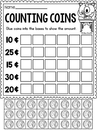 Best 25+ Counting coins worksheets ideas on Pinterest