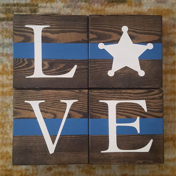 Deputy Blocks. Police Officer Gift. Law by CreationsByNicolette