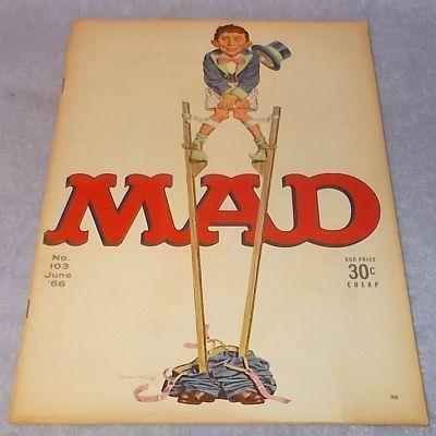 Mad Sarcastic Humor Comic Magazine No. 103 June 1966 Alfred E Neuman