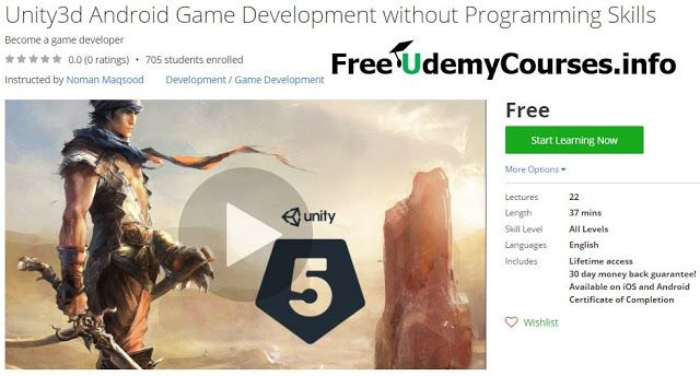 [Udemy #BlackFriday] #Unity3d Android Game Development without Programming Skills   About This Course  Published 11/2016English  Course Description  Want to develop android gamesbut know very little or no programming ? Thats no issue. Start this course it needs no prerequisite.  In this course you will learn how to develop an android game from scratch This course will teach you step by step How to do setup the environment and how to do all necessary installations. Further I will provide you…