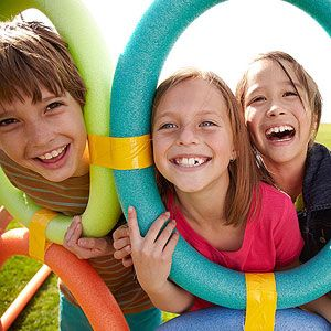 Use Your Noodle: Pool Noodle Backyard Games: How to Make a Ring (via Parents.com)