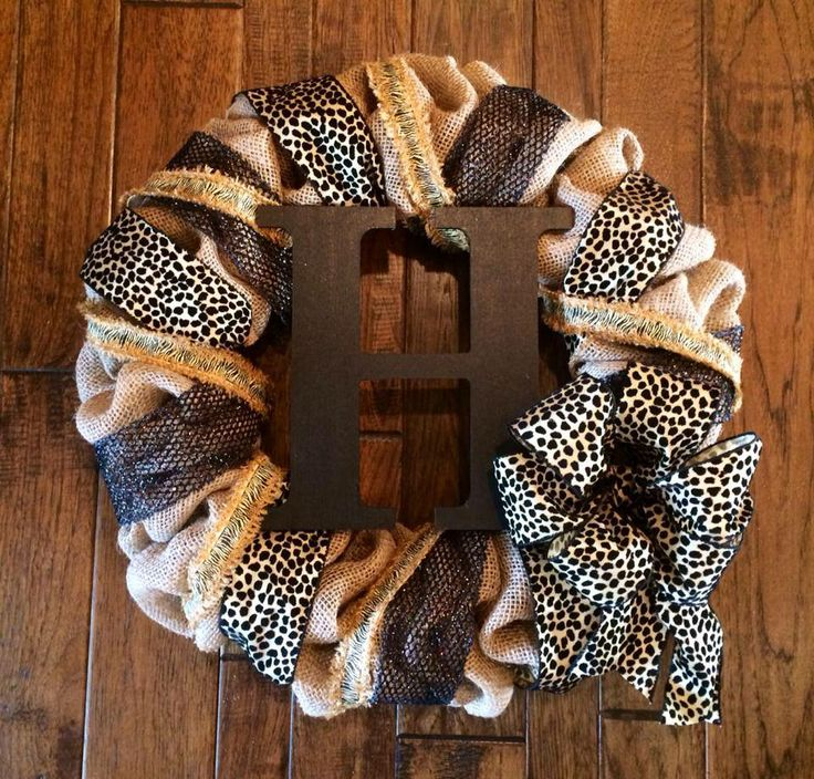 Animal print burlap wreath 60 this is a classic way to for 60 burlap