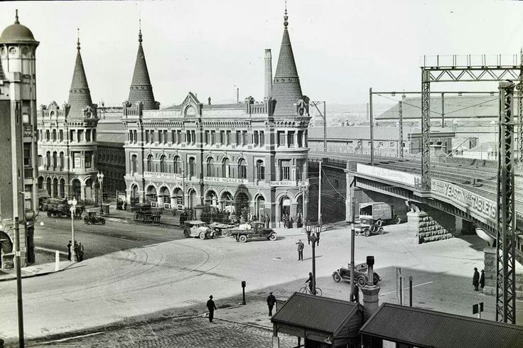 Corner of Spencer and  Flinders Streets,Melbourne (year unknown).