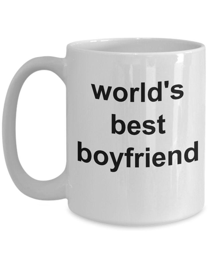 Romantic Homemade Gift Ideas For Boyfriend – Gifts For Him – 15 Oz White Cup – Worlds Best Boyfriend