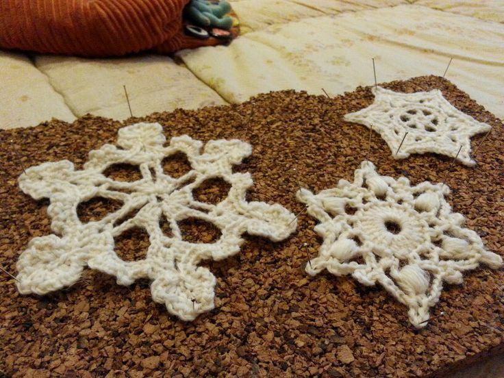 Fiocchi di neve a uncinetto