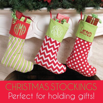 Monogrammed Christmas Stocking / by LEmbroideryAndDesign on Etsy Tree skirts place (I know what I want, but this is the order place)